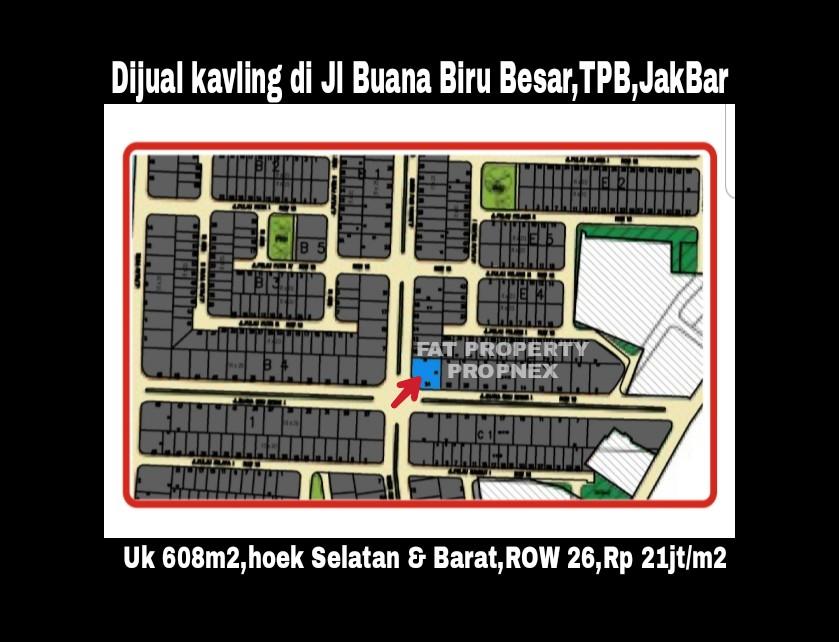 Dijual kavling hunian Jl.Buana Biru Besar E3 no 24,Taman Permata Buana,samping Puri Indah,Jakarta Barat.
