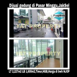Dijual cepat super BU gedung kantor di Pasar Minggu,Jakarta Selatan.