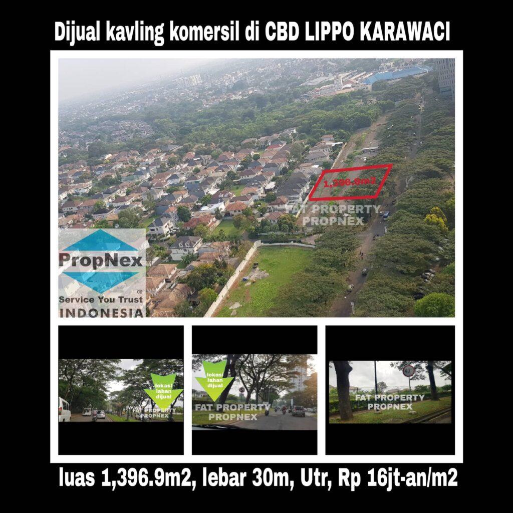Dijual kavling komersil di CBD Lippo Karawaci: BEVERLY COMMERCIAL DISTRICT.