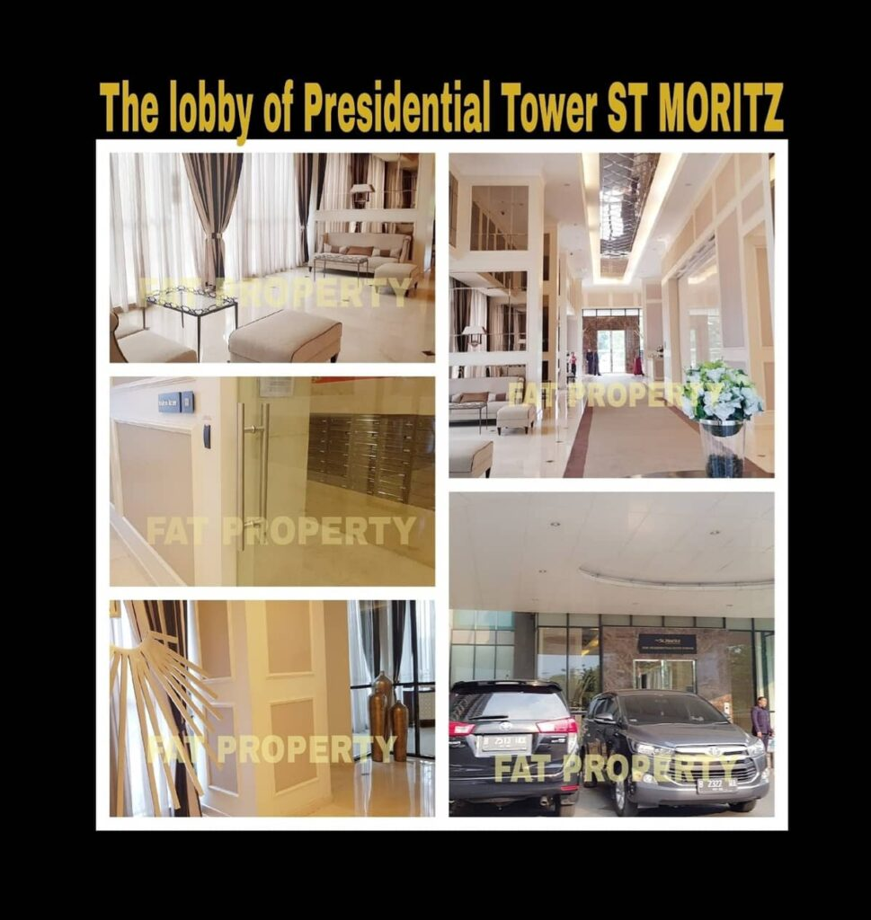 Dijual Apartment ST MORITZ Tower Presidential the best unit in the best tower: ukuran 269m2.