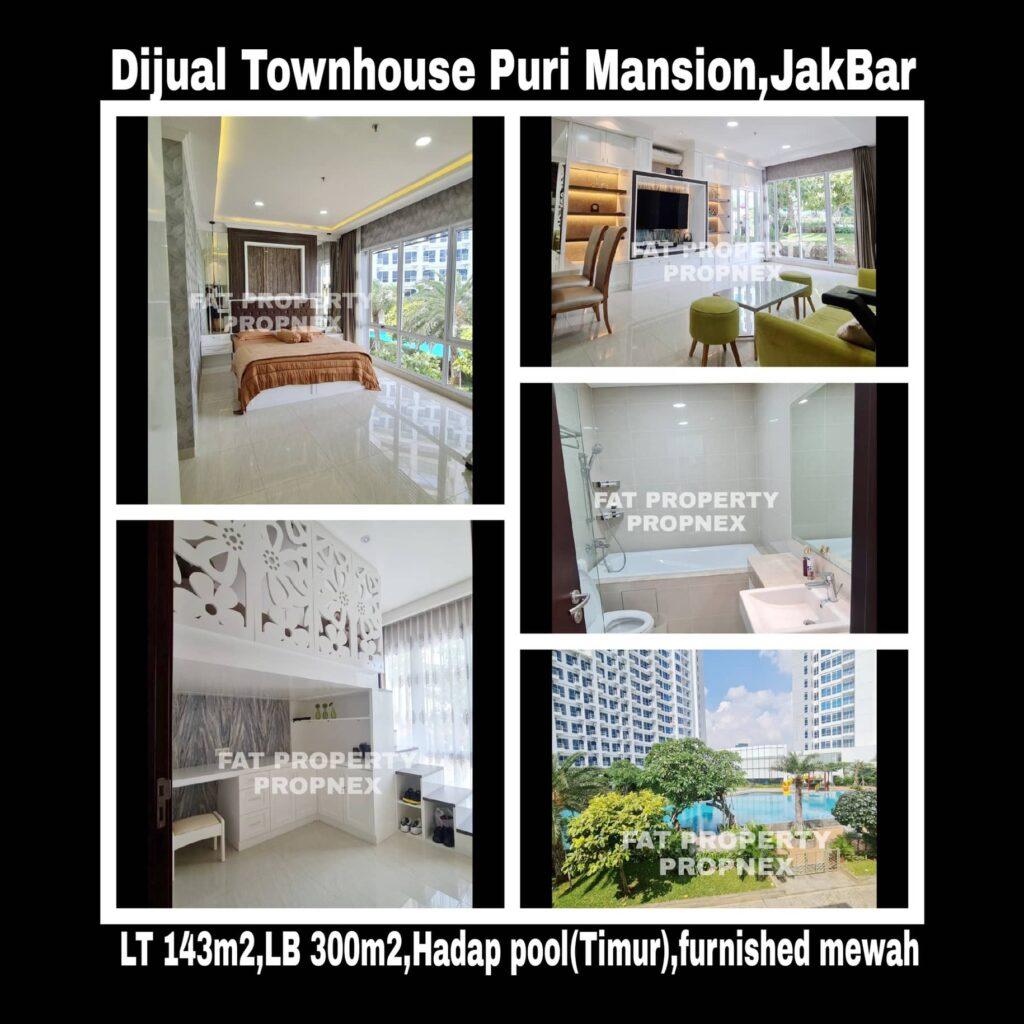 Dijual Puri Mansion Townhouse,Jakarta Barat.