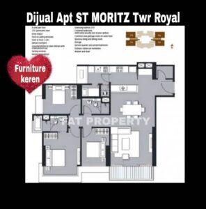 Disewakan Apartment ST MORITZ di Puri Indah,Jakarta Barat.