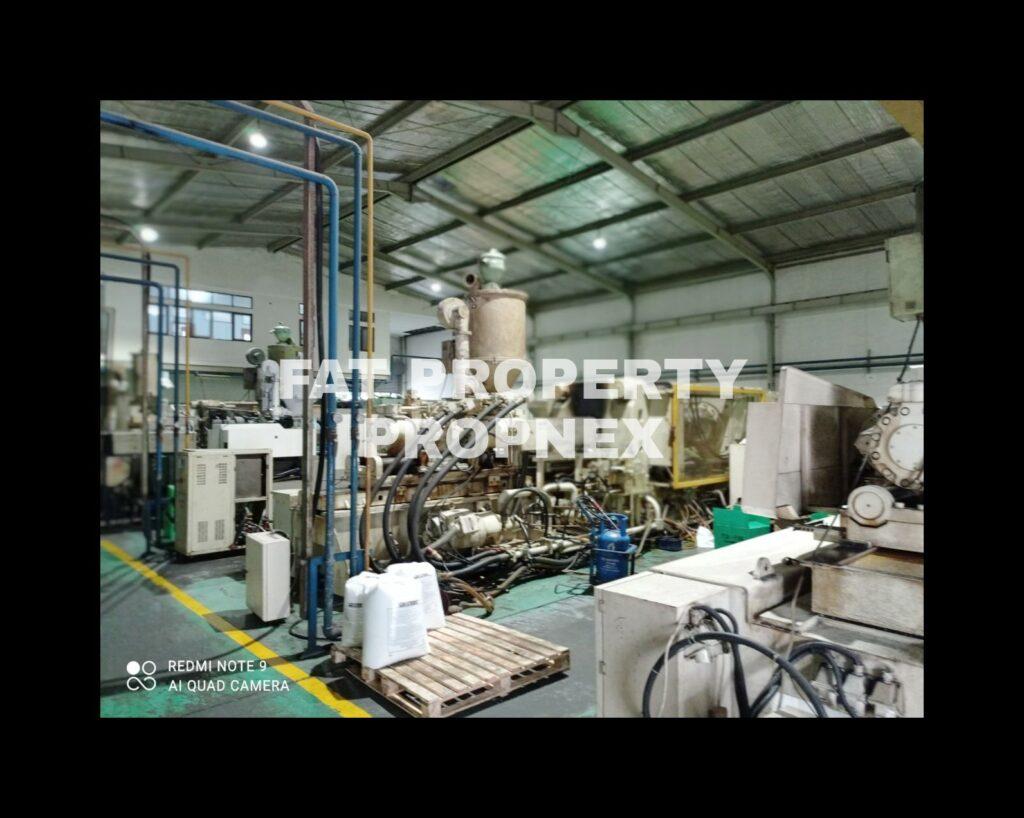 Dijual pabrik plastik injection di Kawasan Industry MM2100,Cibitung,Bekasi.