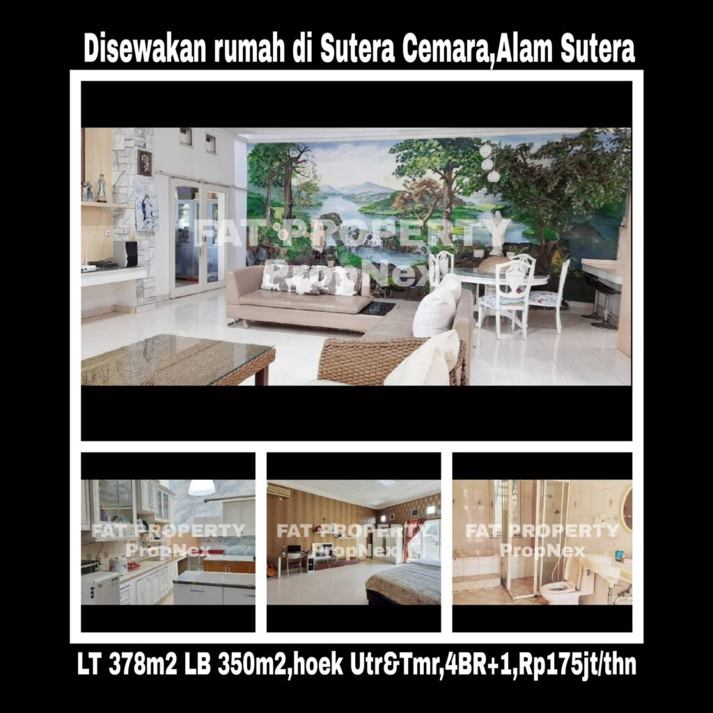 Disewakan rumah di Sutera Cemara,Alam Sutera.