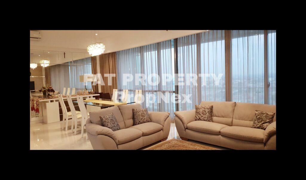 Dijual / Disewakan Apartment ST MORITZ Tower Presidential, tower paling ekslusif hanya 4 unit per lantai posisi paling private di ujung kompleks ST MORITZ.