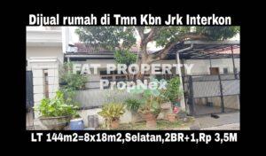 Dijual rumah satu lantai mewah di perumahan elite : Taman Kebon Jeruk Interkon,Jakarta Barat. Blok D