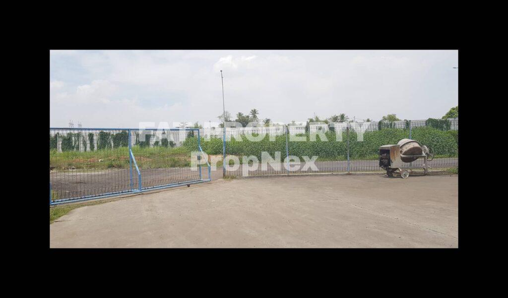 Dijual lahan dan bangunan pabrik bekas pabrik motor di Cikande.